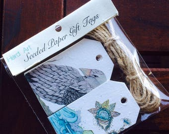 Seeded Paper 12 pk Gift Tags - Artistree