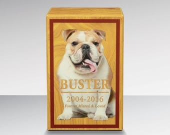 Customized simplicity pet urn with photo