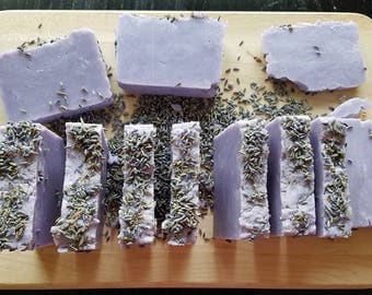 Lavender Soap All Natural Handmade Soap Homemade soap Hot process Soap Essential Oil Purple