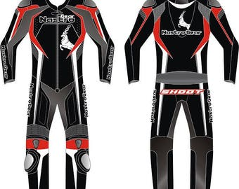 Nastro Gear motorbike genuine cowhide leather racing suit CE approved armors