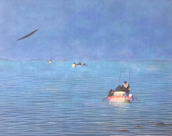 "Print by Sergio Agostini - ""Profondo porpora ed acque turchesi"""