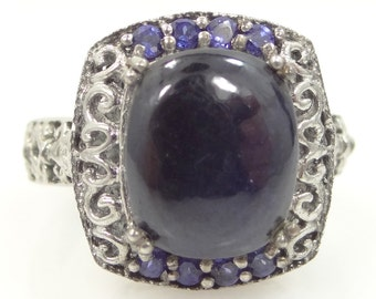 KARIS STS Collection Blue Sapphire Filigree Ring
