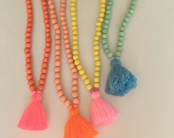Candy Shop necklace , child jewelry, jewelry with tassel, child gift, beach jewelry, necklace with tassel, mommy & me, girls necklace