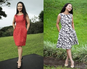 Dress PDF Pattern | PDF Sewing Pattern | Dress Digital Pattern | Womens PDF Sewing Pattern | Sewing Tutorial | Sewing Pattern Download