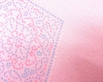 Vintage silk kimono bolt  -  pink - 12.5 yards - chirimen - crepe
