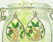 Tan Rabbit Earrings Ivy and Leif - Rabbit Jewelry - Bunny Rabbit - Bunny Earrings - Gift for Rabbit Lovers - Pet Rabbit