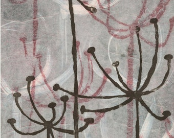 Anise 30 - Three-plate color monoprint - PRINTABLE FILE - 8x10