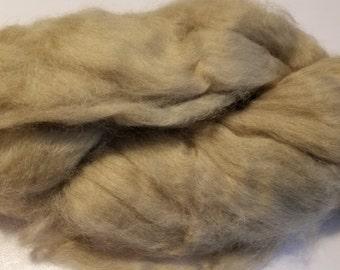 CRAZY Cashmere 100 percent Light Brown Roving Combed Top spinning fiber fibre