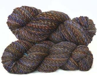 Handspun handdyed yarn BFL wool  plied
