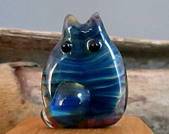 Cat Bead Handmade Lampwork Focal - Scott FatCat