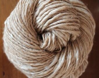 Handspun Baby camel and silk yarn, 186 yards
