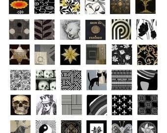 Basic Blacks - 1x1 - Digital Collage Sheet - Instant Download