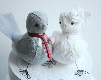 Love Birds Wedding cake topper - Love Birds cake topper  - Wedding Bird cake topper - Bird Cake Topper- CUSTOM ORDER