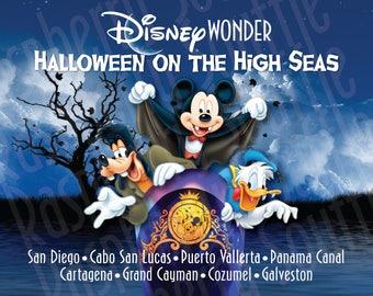 Disney Wonder Panama Cruise Halloween on the High Seas Cruise 8X10