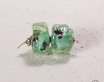 Anemone Textured Bead - Encased Green