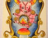 Mechanical Pig Original Art Painting
