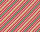 Thanksgiving Sale 10% Off Robert Kaufman Remix Diagonal Stripe Holiday Metallic Quilting Apparel Fabric BTY