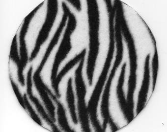 Free US Shipping! Round Zebra Print #1014 Dollhouse Area RUG Great for OOAK Sculpt Doll