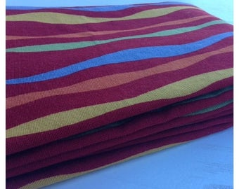 40% OFF- Wavy Stripes Fabric-Reclaimed Curtain Fabric