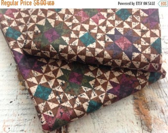 40% OFF- Pinwheel Quilt Fabric-Reclaimed Bed Linen Fabric-Jewel Tones