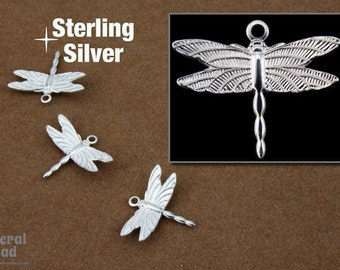 16mm Sterling Silver Dragonfly Charm  #BSJ049