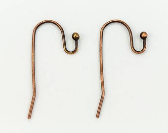 Antique Copper French Wire with Ball #EFD101