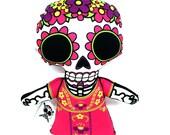 Pink La Muerta Plushie