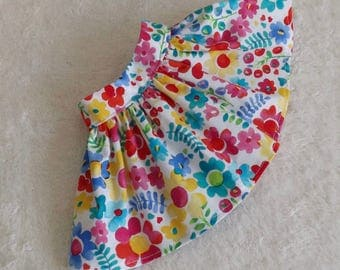 18 Inch Doll Skirt Bright Spring Flowers Goes with Everything Very Gathered New Item Spring 2017