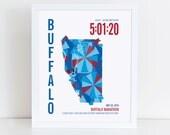 Personalized Buffalo Marathoner Map