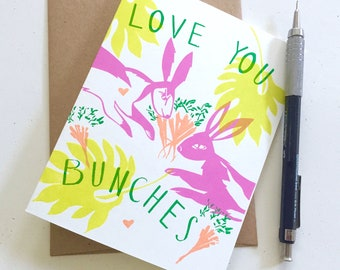 Love You Bunches A2 - Birthday Card