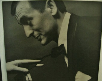 Ad//Formal Wear / Full page ad / After Six Formal Wear by Rudofker / 1963 black and white