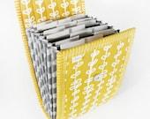 Circular Needle Case - Yellow Vine - Needle Holder Needle Wallet Circular Needle Organizer