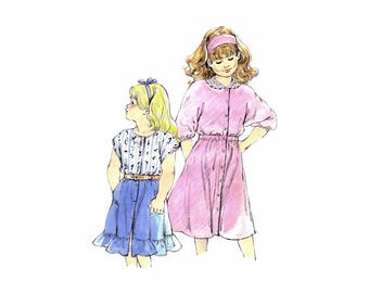 Girls Top and Skirt Kwik Sew 1694 Vintage Sewing Pattern Size 8 - 10 - 12 - 14 Uncut