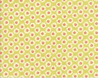 Coney Island - Cotton Blossoms in Limesicle Green: sku 20281-17 cotton quilting fabric by Fig Tree and Co. for Moda Fabrics - 1 yard