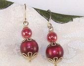 Red Moonglow Earrings
