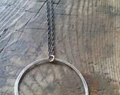 Long circle of silver