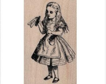 Drink Me rubber stamp Alice in Wonderland stamps stamping no 20015