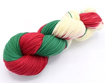 Christmas is Coming Variegated Hand Dyed Yarn - Made to Order