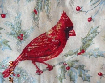 MadieBs Cardinal with Holly and Berries Plastic Bag Holder Dispenser