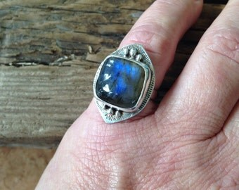 Labradorite and Sterling ring