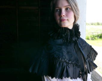 Victorian Mourning Capelet