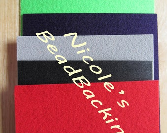 Bead Backing Nicole's BeadBacking Beading Foundation  Bead Fabric Textile Craft Art Supplies
