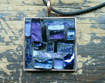 Royal Purple Patchwork Pendant