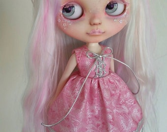 SALE Pink and Silver dress for Blythe and Pullip