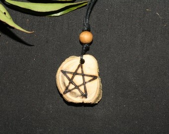 Rare Ash Root Pentagram Pendant - The World Tree - Pagan, Wicca, Witchcraft, Pentacle