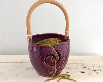 Yarn Bowl,   yarn organizer, Knitting crochet