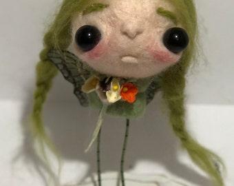 Georgia  The green fairy  Ooak   art doll