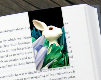 Bunny Floral Magnetic Bookmark