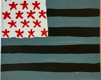 Flag Waiver's Delight / original painting / stripin' and starrin' / number 5213