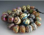 SPRING SALE Naos Glass One of Each Bead Pair Mega Set 28 beads Made To Order Artisan Glass Beads Handmade Lampwork Beads SRA
